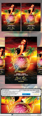 Luau Flyer Luau Flyer Graphics Designs Templates From Graphicriver