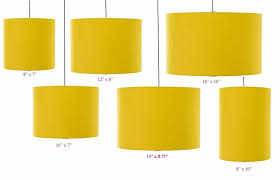 Mustard Yellow Drum Lampshade 20cm 25cm 30cm35cm40cm45cm