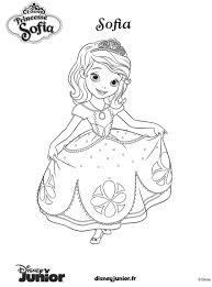 Coloriage De Princesse Sofia A Imprimer