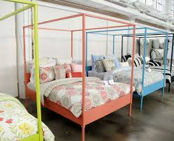 Ikea's Edland bed fram painted in a rainbow of hues by Martha Stewart's  team. Four Poster ...