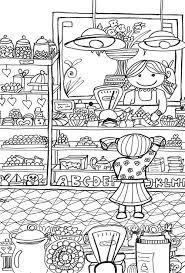 Kleurplaat Chocoladewinkel Nr 15