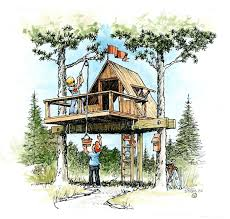Treehouse Plans Easy to Build Treehouse Plans Nongzico