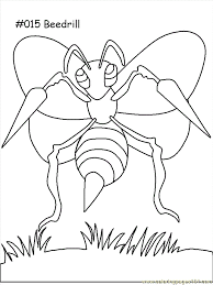 Small Picture Beedrill Coloring Page Free Pokemon Coloring Pages