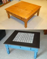 chalk paint coffee table painted top diy round tables
