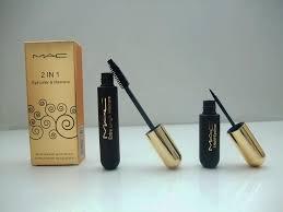 2 in 1 eyeliner and maa mac 3d fiber lashes waterproof natural makeup