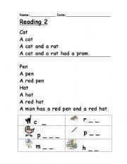 Includes differentiated support and independent sheets. Phonics Reading 2 Esl Worksheet By Clare Baldacchino