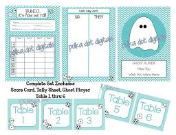 Buy 2 Get 1 Free Complete Set Teal Blue Chevron Bunco Score Card Sheet Matching Table Numbers And Tally Sheert Digtal File Download Pdf