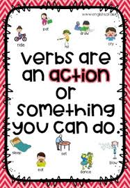Action Words Chart With Pictures Free Worksheets Verbs Or Action Words Www Englishsafari In