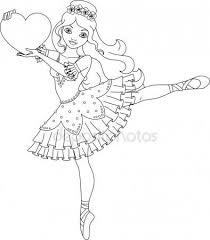 Ballerina Kleurplaat Paper Printables Ballerina Coloring Pages
