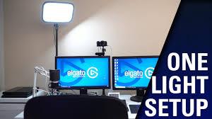 Streaming Light Setup Best Setups With 1 Elgato Key Light
