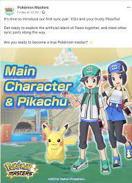 Info] So we heard you are not exhausted of first Gen Pokemon, so we gave  your main character a partner Pikachu in Pokemon Masters! : pokemon