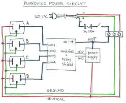 plugduino arduino based 120 volt outlet controller 15 steps picture of power circuit schematic