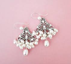 home design crystal chandelier earrings bridal pearl wedding statement jewelry for brides
