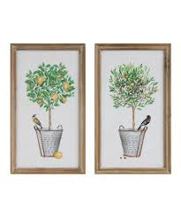 potted plant framed wall art set of