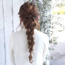 難しいと思ってない簡単にできるロングの編み込みヘアアレンジhair