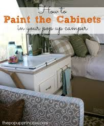 Pop Up Camper Remodel Painting The Cabinets The Pop Up Princess Fascinating Spray Painting Patio Furniture Remodelling