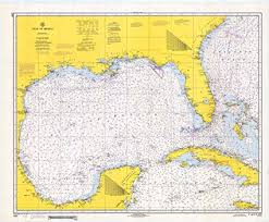 Texas Gulf Coast Water Depth Chart Amazon Com Vintography Gallery Wrap Art Canvas 18 X 24