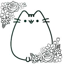 Cat Coloring Pages Printable Kitty Coloring Sheet Pages Black Cat