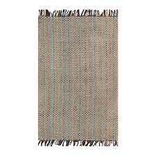allen + roth Pembroke Cool Multi Rectangular Indoor Handcrafted Throw Rug  (Common: 2 x