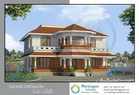 Small Picture Traditional Style Double Floor Kerala Home Design