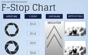Photography Depth Of Field Chart F Stop Chart Infographic Making Understanding Aperture