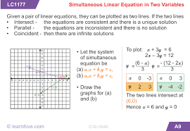 mathematics pair of linear equations in two variables