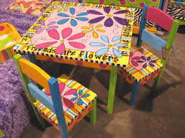 cool funky furniture. hand painted child table u0026 2 chairs pretty coolnot sure cool funky furniture n