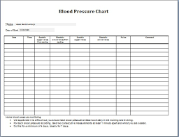 Free Blood Pressure Chart To Print 76 Logical Blank Blood Pressure Tracking Chart