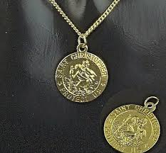 30 gold plated st christopher pendant