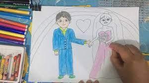 Tô màu tranh cô dâu chú rể - the bride and groom