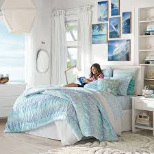 beach bedroom furniture. kelly slater organic trestles ruched quilt sham pbteen beach bedroom furniture i