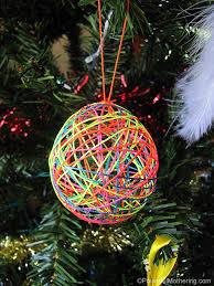 Decorating Christmas Ornaments Balls Yarn or String Ball Christmas Ornaments 37