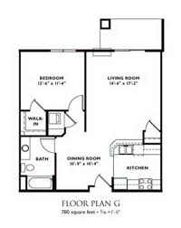 1 bedroom floor plans. 1 bedroom floor plan - g plans