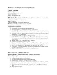 Good Objective For Resume Stunning Samples Of Resumes For Customer Service Representative Resume Media