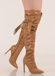 get the strap slouchy thigh high boots camel