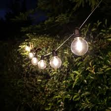 outdoor globe filament style festoon lights connectable warm white leds