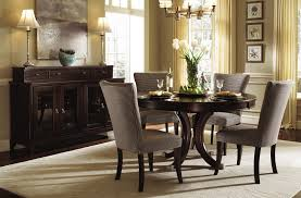 dining room sets with fabric chairs of goodly solid wood round circular dining room table and