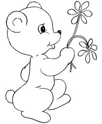 Small Picture BlueBonkers Teddy Bear Coloring Page Sheets bear with spring