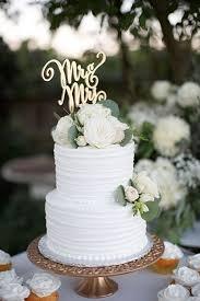 Two Tier White Rustic Wedding Cake Wedding Ideas Wedding Cakes