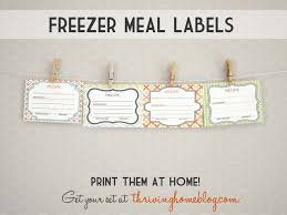Recipe Labels Printable Freezer Meal Labels Thriving Home