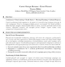 Resume Templates For Career Change Entry Level Career Change