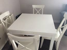 ikea ingatorp ingolf extending dining table and 4 chairs