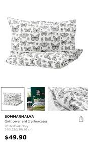 ikea sommarmalva king size quilt cover