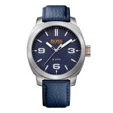 hugo boss watches hugo boss orange blue grained leather watch hugo boss watches hugo boss orange blue grained leather watch