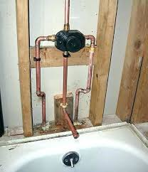 installing new shower faucet to shower valve installation shower mixing valve rough for a slip on