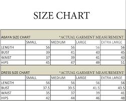 Burqa Size Chart Mushkiya Multicoloured Polyester Stitched Burqas Without Hijab