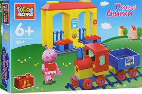 <b>Город мастеров Конструктор Поезд</b> свинки — купить в интернет ...