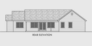 house front drawing elevation view for 10162 single level house plans one story house plans