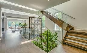 Indoor Garden Garden Void Home In Toronto Boasts A Beautiful Multi Level Indoor