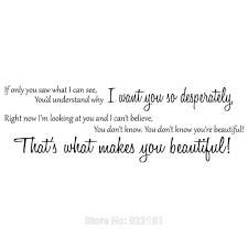 One Direction Bedroom Decor One Direction Beautiful Lyrics Wall Art Sticker Decal Home Diy